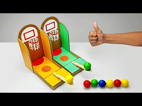 DIY Multiplayer Basketball Arcade Game From Cardboard