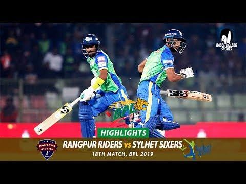 Sylhet Sixers vs Rangpur Riders Highlights || 18th Match || Edition 6 || BPL 2019