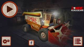 Zombie Road Escape - Smash all the zombies on road Gameplay | Android Simulation Game