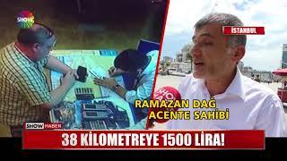 38 kilometreye 1500 Lira!