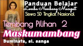 MASKUMAMBANG BIMINATA, sl. 9. Materi Lomba Nembang Macapat SD Tingkat Nasional Tembang Pilihan 2.