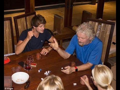 Richard Branson bunkers down in his Carribbean island home´s cellar as Hurricane Irma arrives