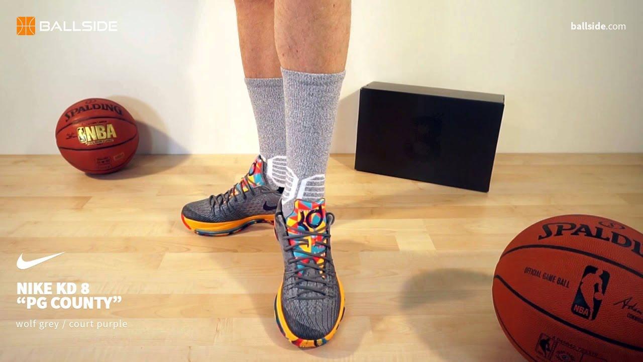 07a40978471a Nike KD 8 PG County on feet - YouTube
