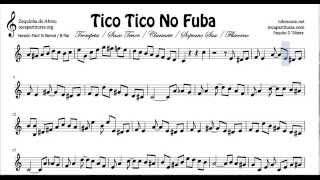 Tico Tico Partitura fácil de Trompeta y Fliscorno en Si bemol No Fuba