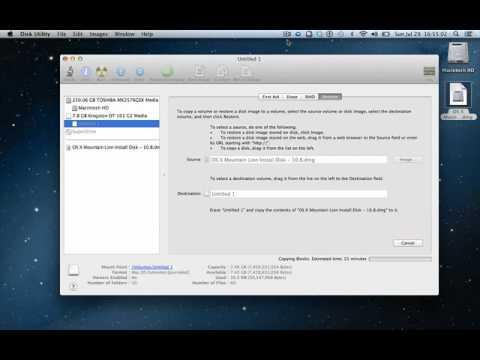 Crear USB de Instalacion para Mac OS X Lion 10 8