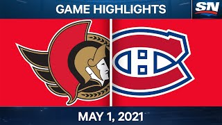 NHL Game Highlights | Senators vs. Canadiens - May 1, 2021