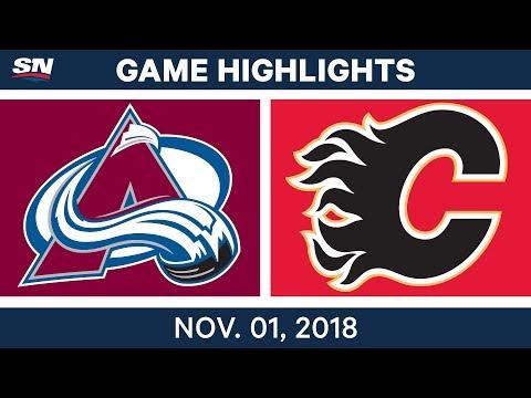 NHL Highlights | Avalanche vs. Flames – Nov. 1, 2018