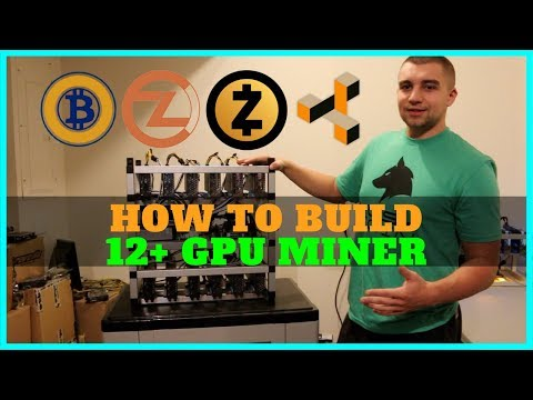 How To Build A 12+ GPU Mining Rig - Ultimate 1080 TI Miner Guide 8400 Sols