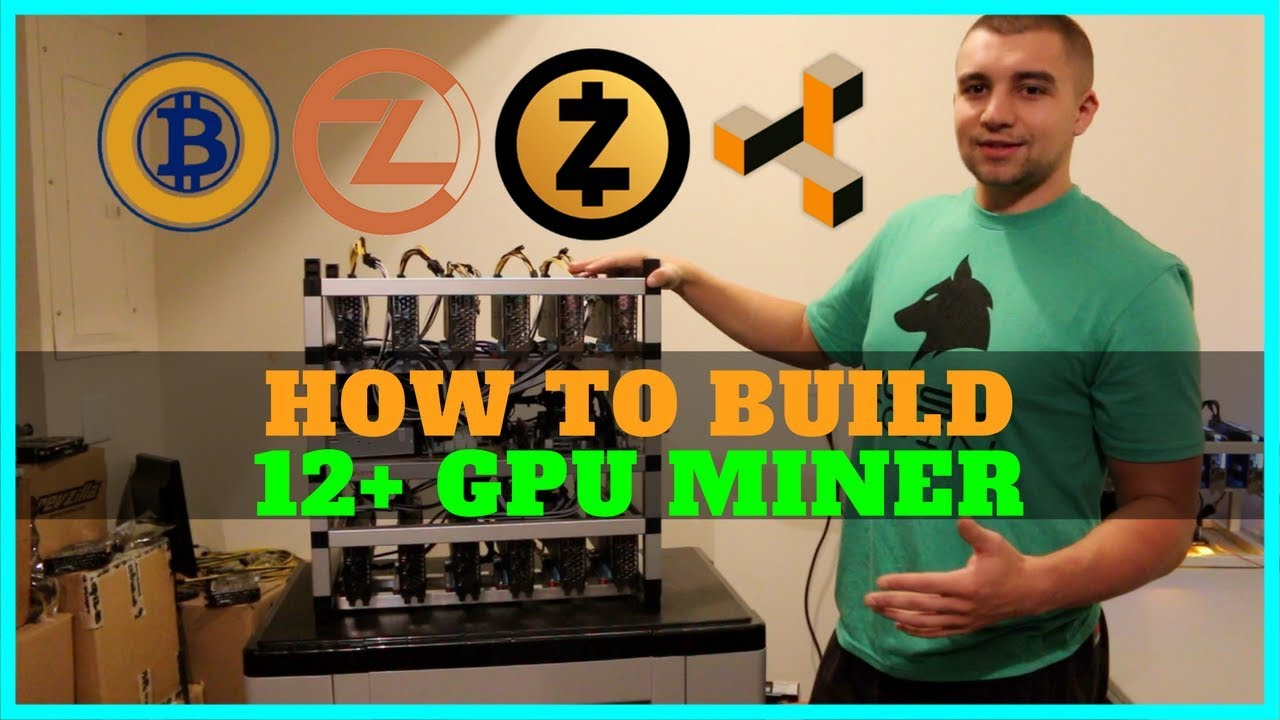 blacklucky13 13 gpu mining rig frame from cryptomined com