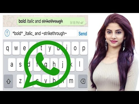 WhatsApp   How To Add Bold, Italic And Strikethrough Formatting To Text Messages
