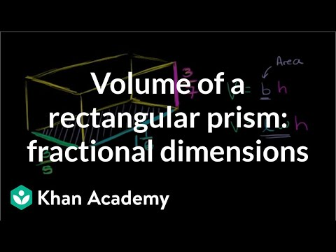 Volume of a rectangular prism: fractional dimensions | Geome