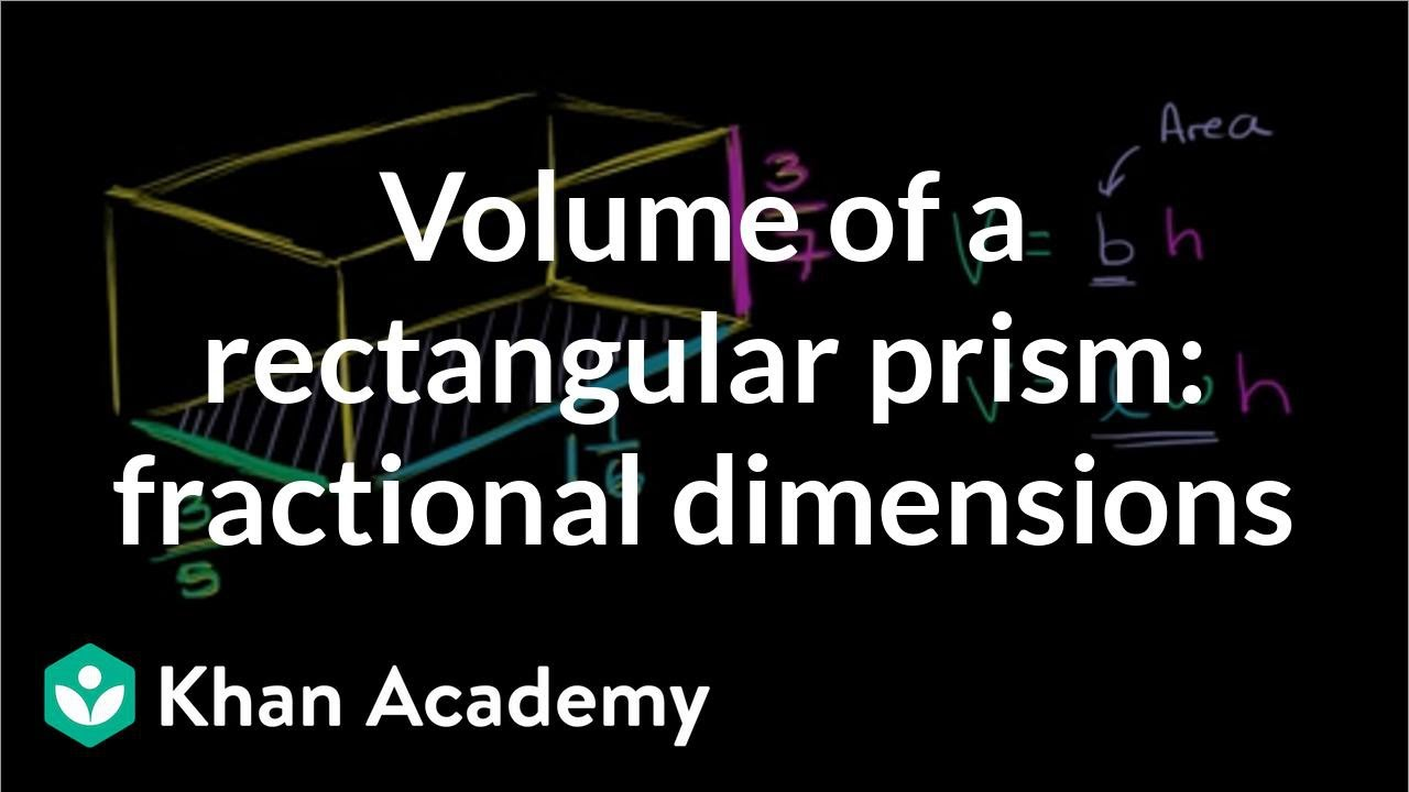 Volume of a rectangular prism: fractional dimensions (video