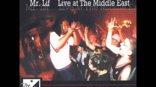 Mr. Lif - Live at the Middle East 5-6