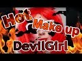 🔥 Hot Devil Girl make up/ Gorąca diablica makijaż - Halloween 2017 🎃