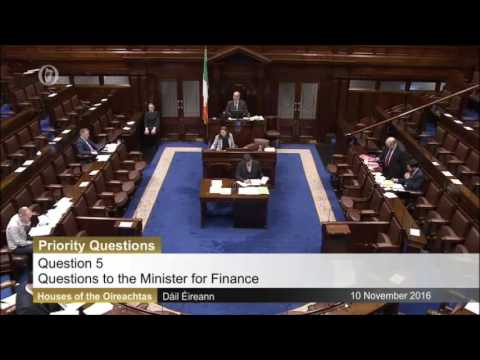 Tommy Broughan TD's Priority PQ with the Minister for Finance on Exchequer Returns