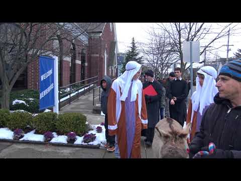 2 of 12 Las Posadas: Mary & Joseph looking for a place at an inn, St Anthony Red Bank, NJ
