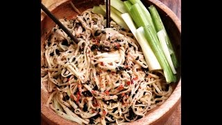 How To Make Cucumber Noodles / Sweet & Spicy Sauce :)