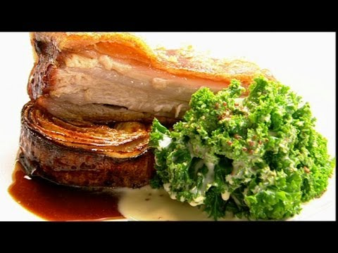 Pork Belly With Curly Kale Part 2 - Gary Rhodes Cookery Year - BBC Food