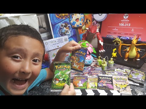 100K SUBSCRIBERS PARTY! OPENING RAREST STACK OF POKEMON CARDS EVER! Original Vintage Boosters! Pt. 2