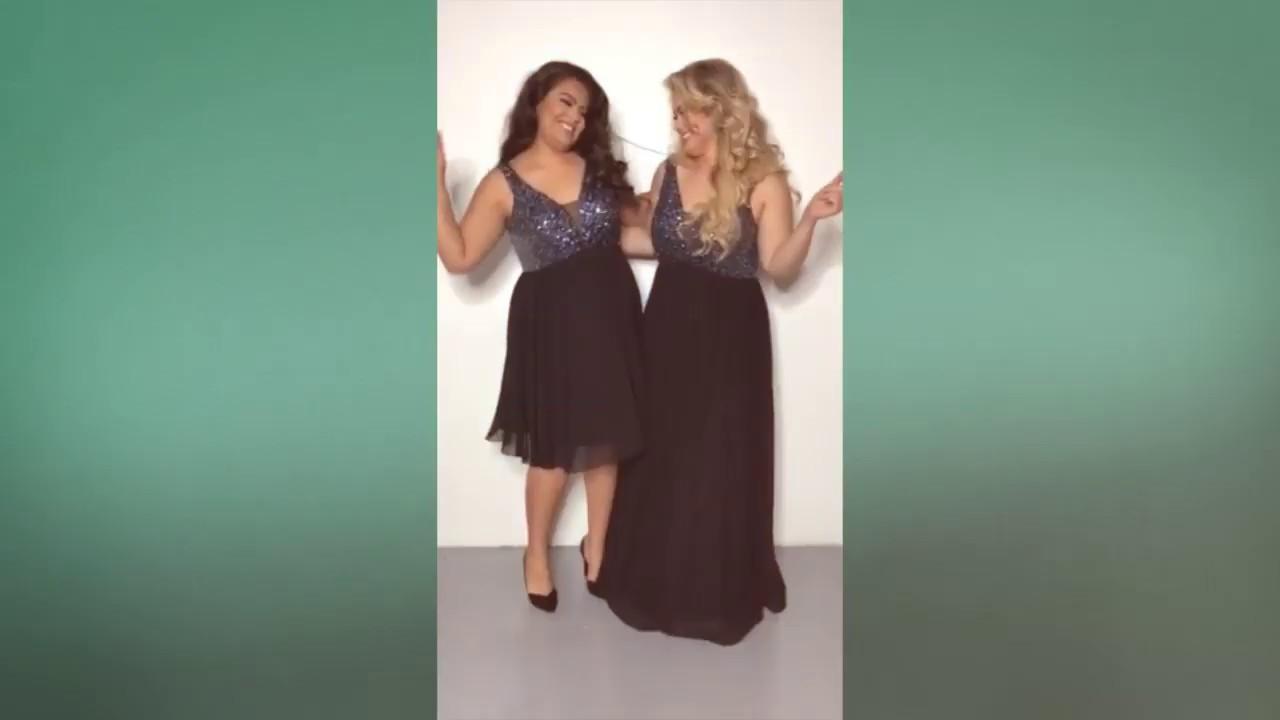 c586f939c1 Plus Size Black Long Prom Dress - Sequin & Chiffon Dress