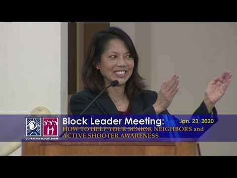 Cupertino Block Leader Meeting 2020:   Active Shooter Awareness/Helping Senior Neighbors