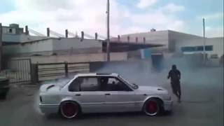 "BMW Jordan Drift تخميس بي ام الاردن 50 "" E30 Donuts with stupid Guy !! """