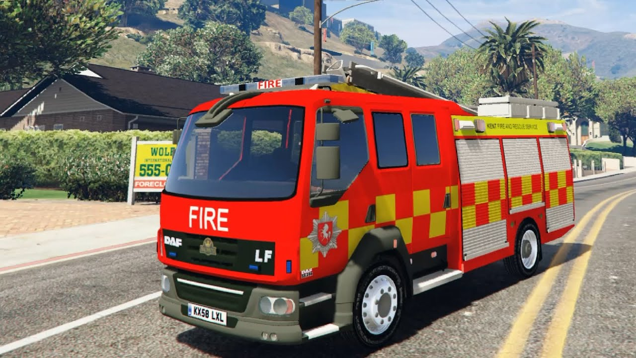 GTA V Kent Fire and Rescue DAF EnRoMovies