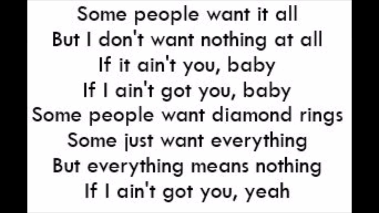 If I Ain T Got You Alicia Keys Lyrics Youtube