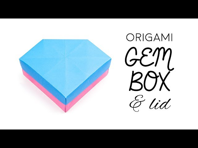 Origami Gem Box & Lid Tutorial (Remake) ♥︎ Paper Kawaii