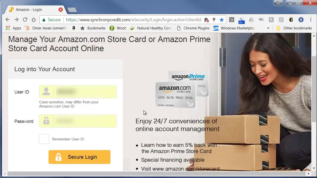 Amazon.com Store Card or Amazon Prime Store Card Account Online Access  Review