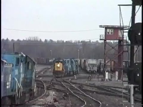 Conrail's Allentown Yard.  November 28, 1992.