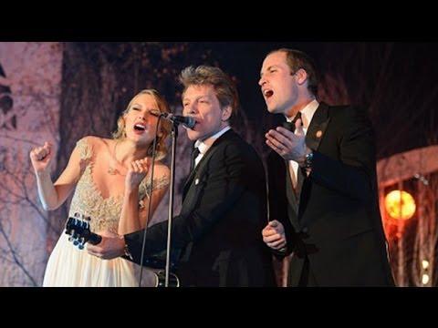 Prince William Sings With Jon Bon Jovi And Taylor Swift