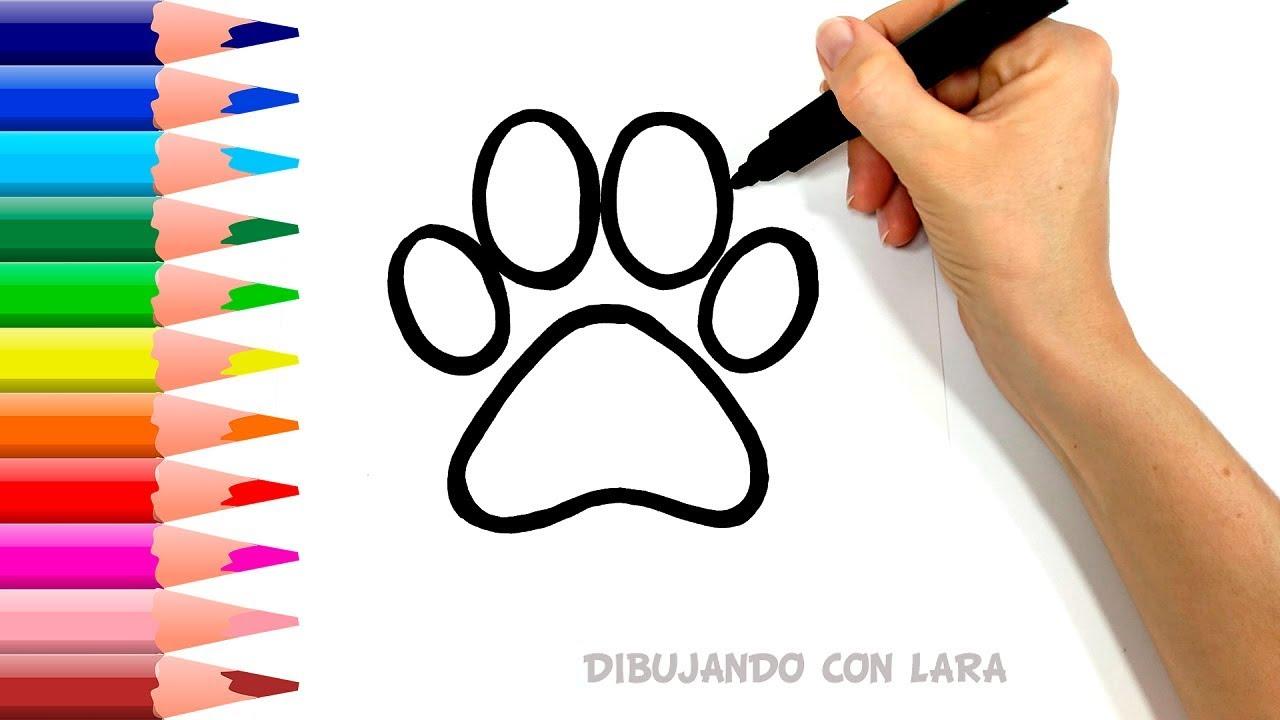Como Dibujar Una Huella De Perro Fácil