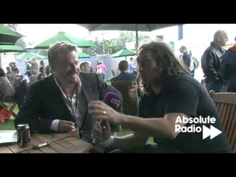 Eddie Izzard and Ross Noble interview at Laughs in the Park 2011