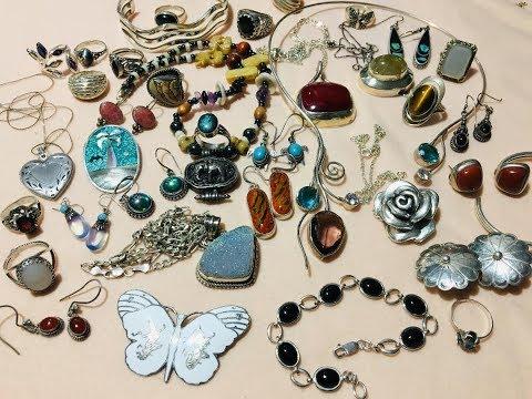 Jewelry Haul Sterling Silver Rings, Necklaces, Bracelets,  Earrings...