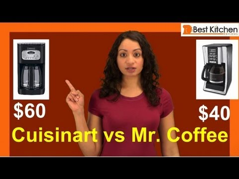 Best Coffee Maker Reviews - under $100 - Cuisinart Coffee maker vs Mr. Coffee 12 Cup