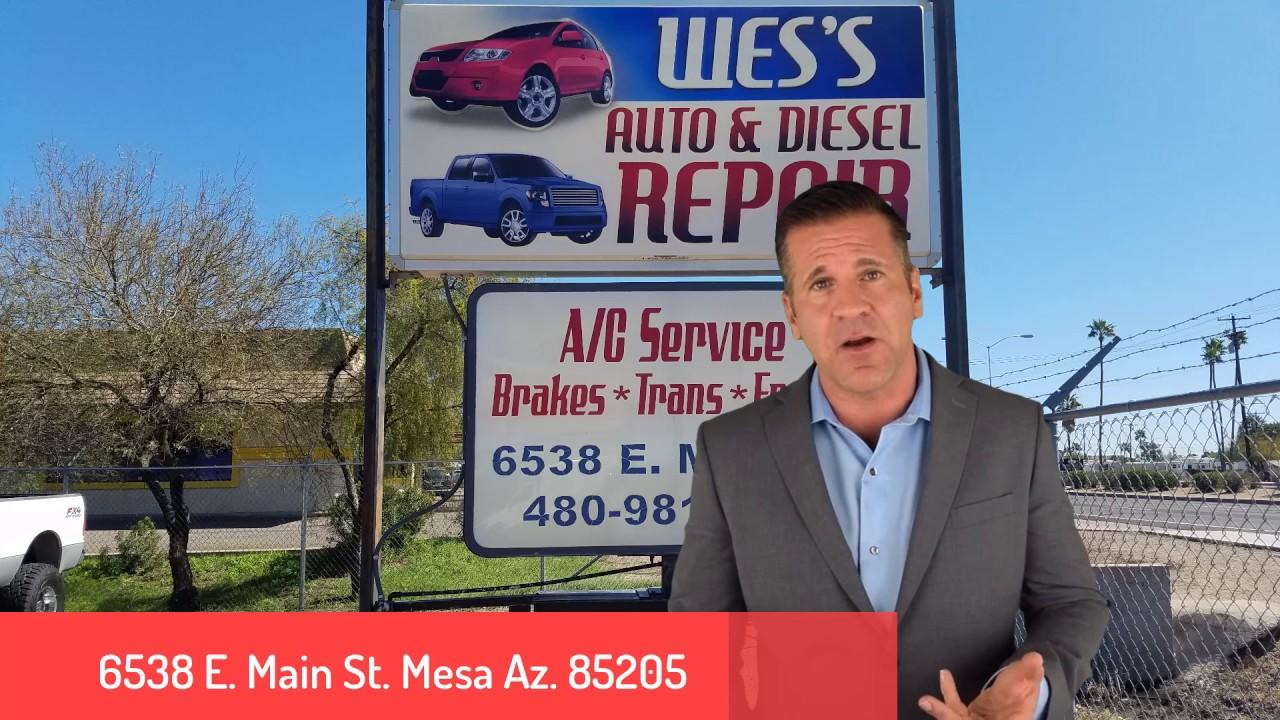 Wes 39 S Auto Diesel Repair Llc 6538 E Main Street Mesa