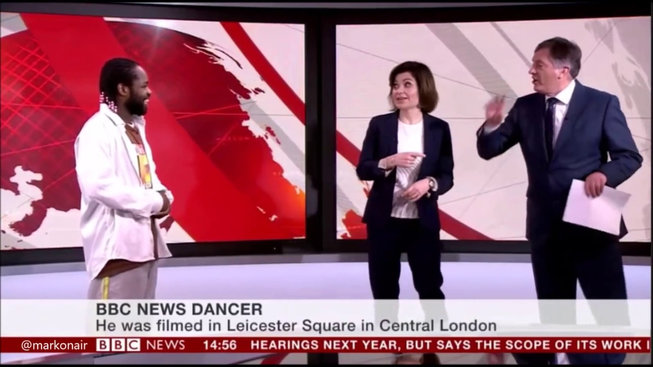 bbc news theme dancer goes viral