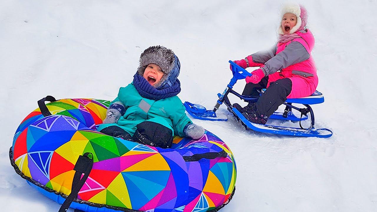 Лера и зимние каникулы с Мамой и младшим Братом