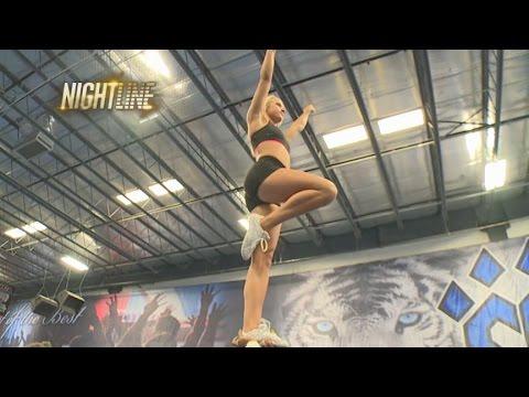 Watch Cheerlebrity Carly Manning Practice High-Octane Stunts