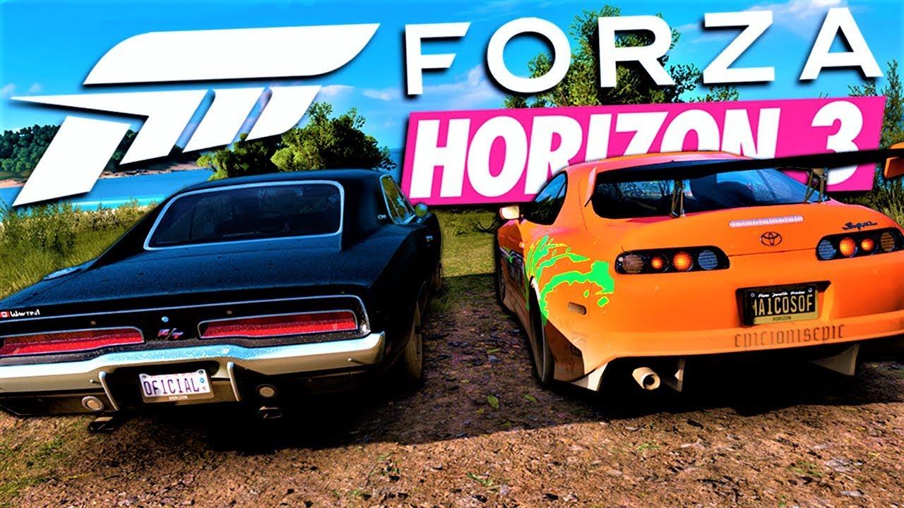 VELOZES E FURIOSOS 9 [ESQUENTA] DODGE CHARGER VS TOYOTA SUPRA - Forza Horizon 3