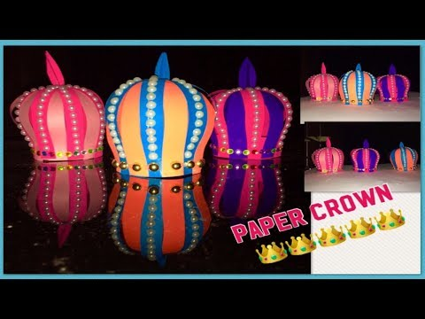 Christmas decoration ideas/paper ornaments/paper crown/Christmas tree and new year decoration