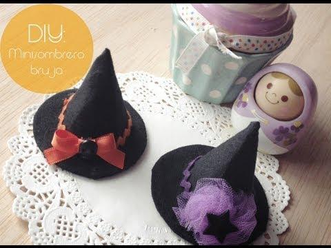 DIY  Mini Sombrero de Bruja   Mini Witch Hat - YouTube 8f430c01d9f