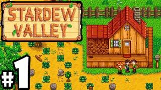 Stardew Valley Gameplay Walkthrough PART 1 - Character Creation, New Farm, Super Harvest Stud Moon!