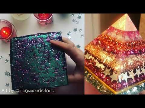 Epoxy Resin Pyramid - Resin Art with Glitter and Fairy Lights!! Just4youonlineUK