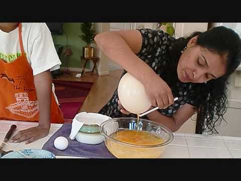 How to make an Ostrich Egg Omlette