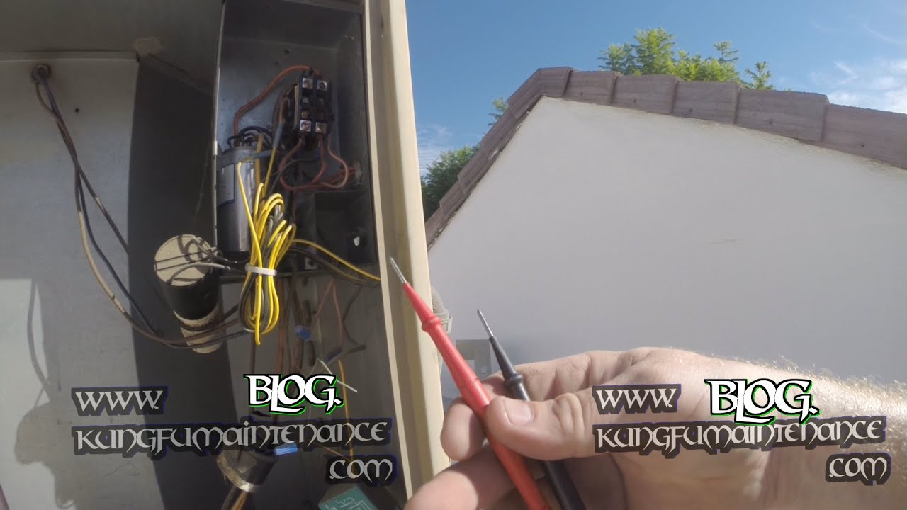 small resolution of outside air conditioner not running no fan no compressor mysterious contactor test repair video