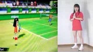 森山花奈 Let's Wii tennis Wiiでテニス 1st 森山花奈 動画 14