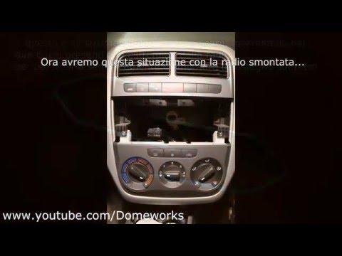 Smontare Console centrale (Clima, autoradio, bocchette aria) Fiat Grande Punto - Tutorial