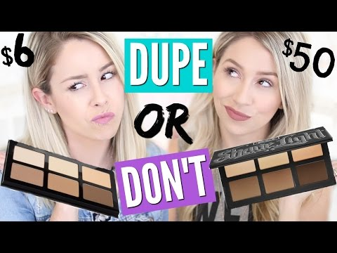 FULL FACE USING PINTEREST MAKEUP DUPES TESTED! | DUPE OR DON